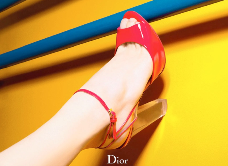 dior cruise 2014 shoes4 Shoe Spotting: Diors Colorful Cruise 2014 Pumps