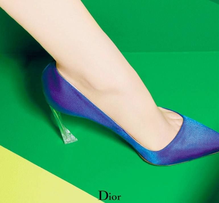 dior cruise 2014 shoes5 Shoe Spotting: Diors Colorful Cruise 2014 Pumps
