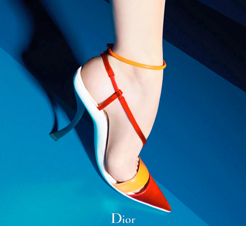 dior cruise 2014 shoes6 Shoe Spotting: Diors Colorful Cruise 2014 Pumps