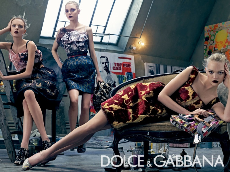 dolce gabbana spring 2008 campaign1 Throwback Thursday | Gemma, Jessica + Lily for Dolce & Gabbana Spring 2008 Campaign