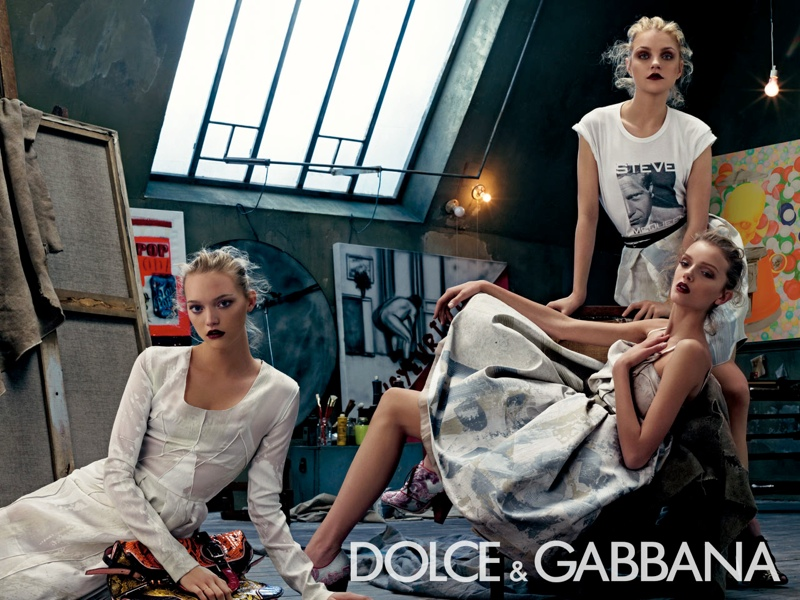 dolce gabbana spring 2008 campaign2 Throwback Thursday | Gemma, Jessica + Lily for Dolce & Gabbana Spring 2008 Campaign