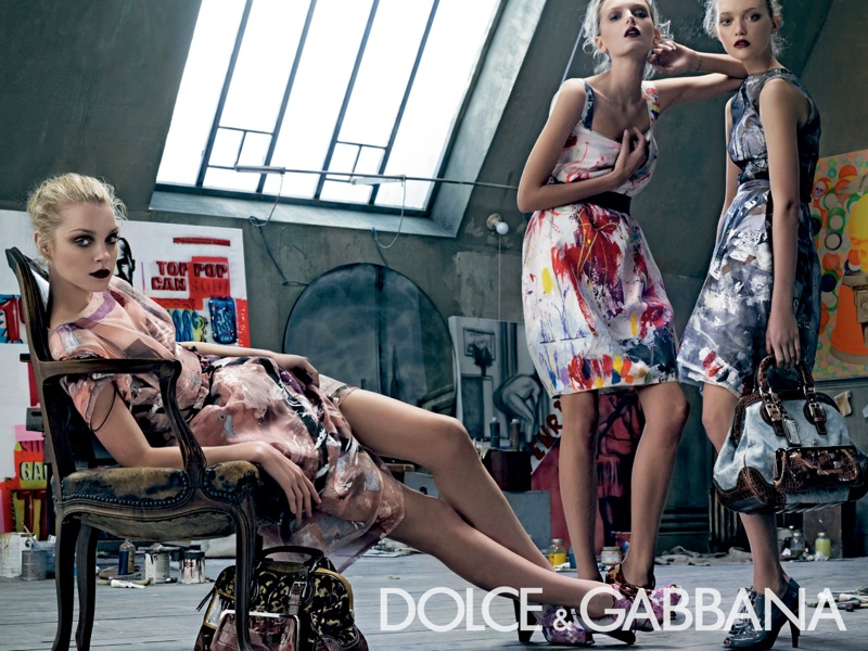 dolce gabbana spring 2008 campaign4 Throwback Thursday | Gemma, Jessica + Lily for Dolce & Gabbana Spring 2008 Campaign