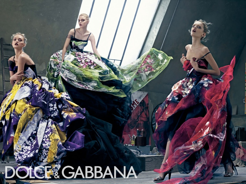 dolce gabbana spring 2008 campaign5 Throwback Thursday | Gemma, Jessica + Lily for Dolce & Gabbana Spring 2008 Campaign