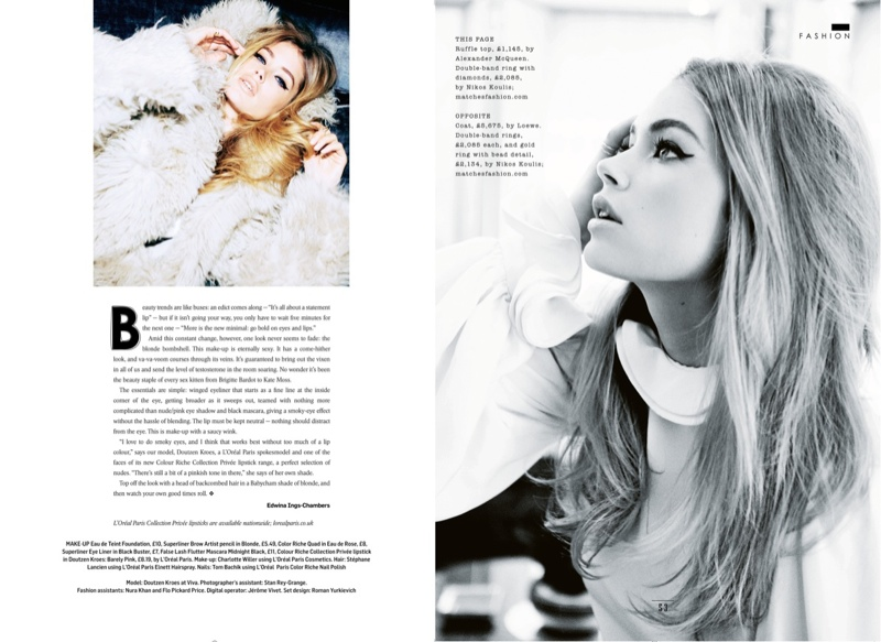 doutzen kroes bombshell4 Doutzen Kroes is a Bombshell for Ellen von Unwerth in Sunday Times Style