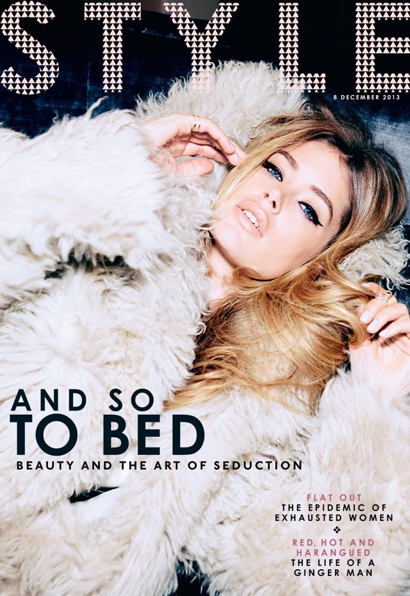 doutzen kroes bombshell5 Doutzen Kroes is a Bombshell for Ellen von Unwerth in Sunday Times Style