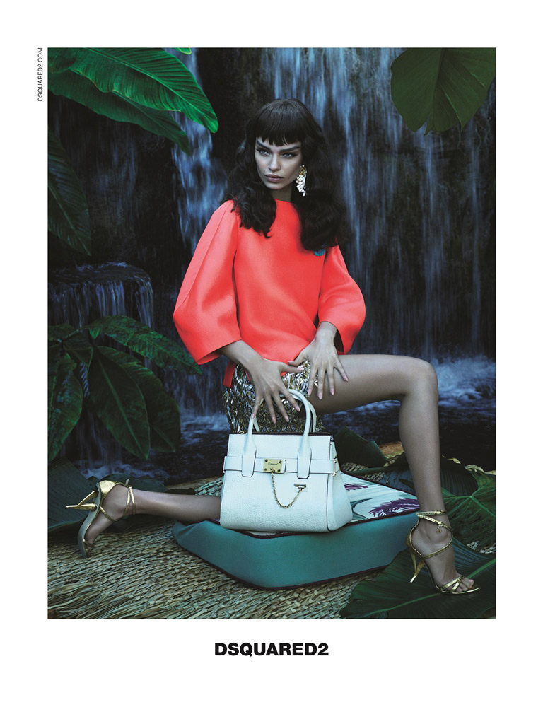 dsquared spring 2014 campaign3 Luma Grothe Gets Tropical for DSquared2 Spring/Summer 2014 Campaign