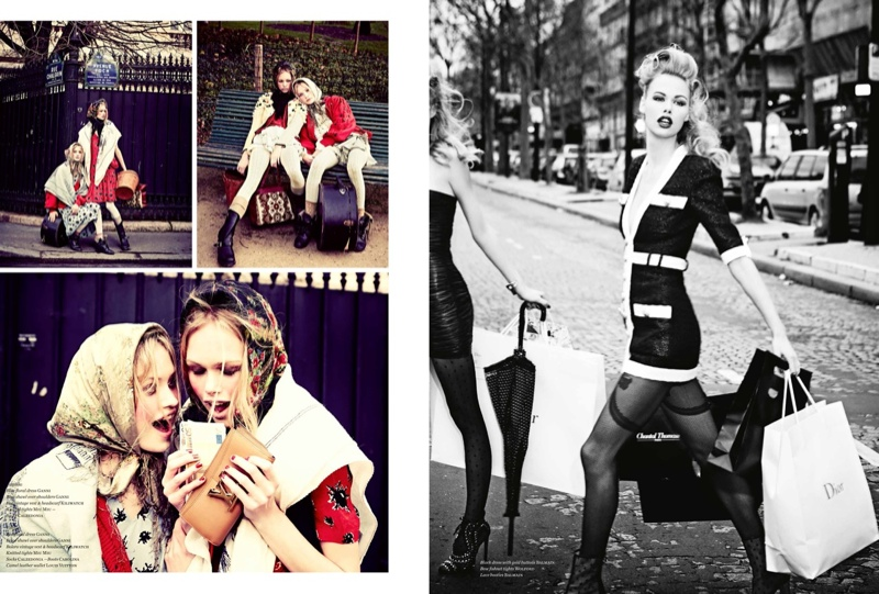 ellen von unwerth paris fun2 Camilla Christensen + Emma Stern Pose for Ellen von Unwerth in Vs. Shoot