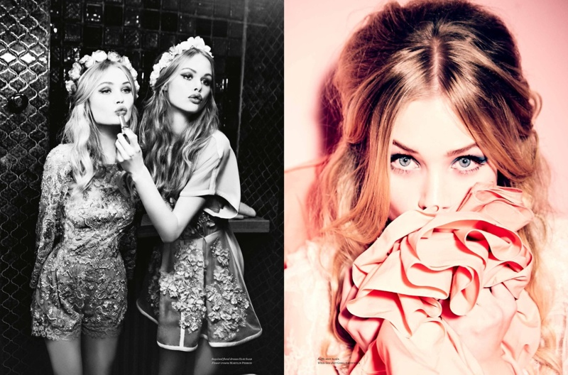 ellen von unwerth paris fun4 Camilla Christensen + Emma Stern Pose for Ellen von Unwerth in Vs. Shoot