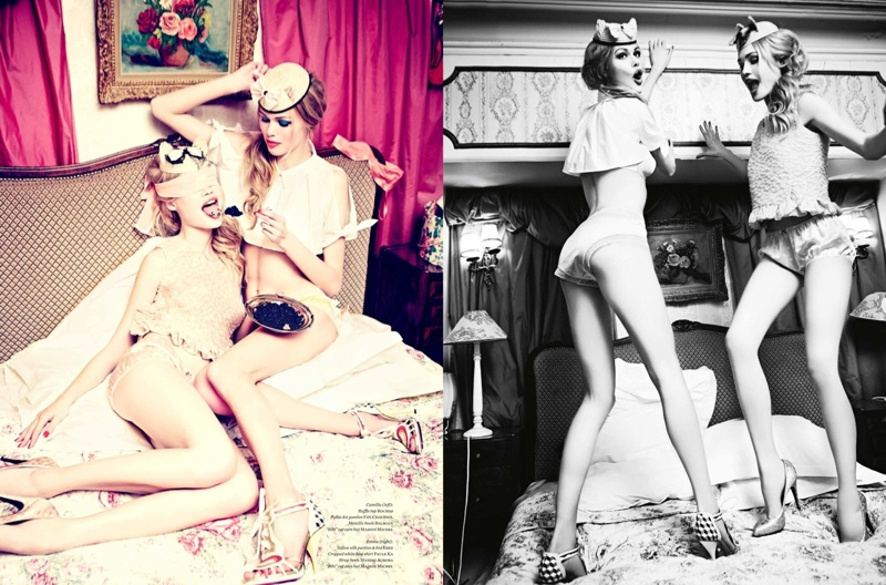 ellen von unwerth paris fun5 Camilla Christensen + Emma Stern Pose for Ellen von Unwerth in Vs. Shoot