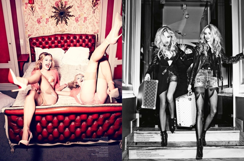 ellen von unwerth paris fun7 Camilla Christensen + Emma Stern Pose for Ellen von Unwerth in Vs. Shoot