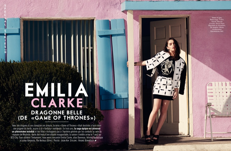 emilia clarke fashion shoot1 Emilia Clarke Looks Fantastic in Glamour France Shoot by Jason Kim