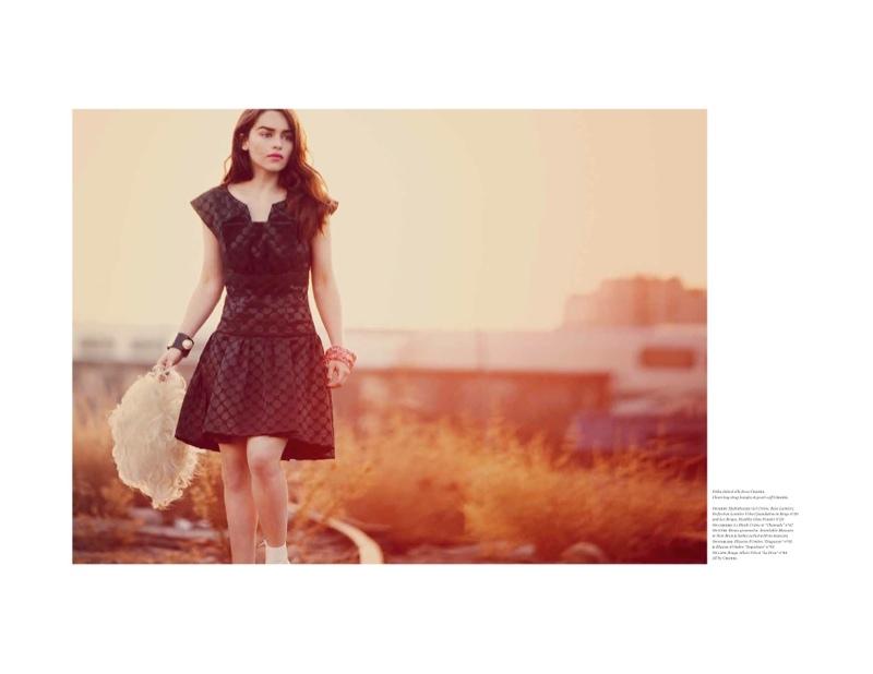 Emilia Clarke Gets Glam for Vs. Magazine Spread