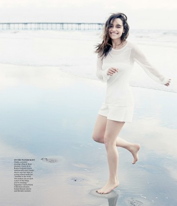 Emilia Clarke is Easy Breezy in Photo Shoot for WSJ
