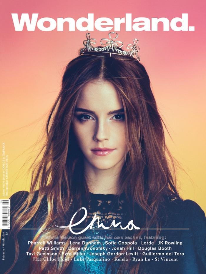 emma watson wonderland magazine1 Emma Watson Covers & Guest Edits Wonderland Magazine