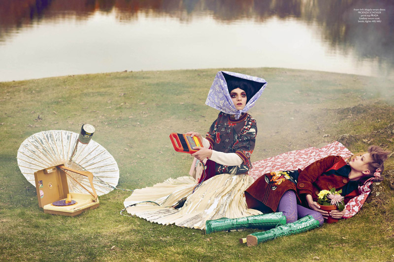 """Lindsey Wixson Stars in """"E.T."""" Inspired Shoot for CR Fashion Book"""