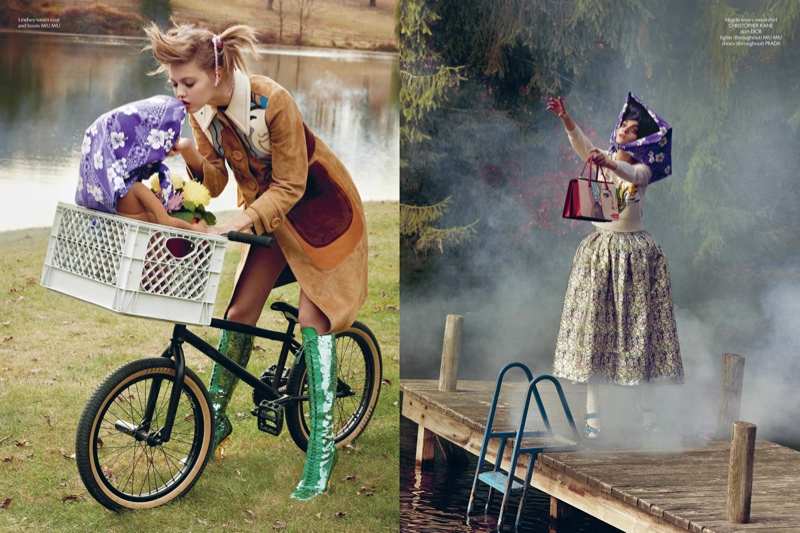 et spread update1 Lindsey Wixson Stars in E.T. Inspired Shoot for CR Fashion Book