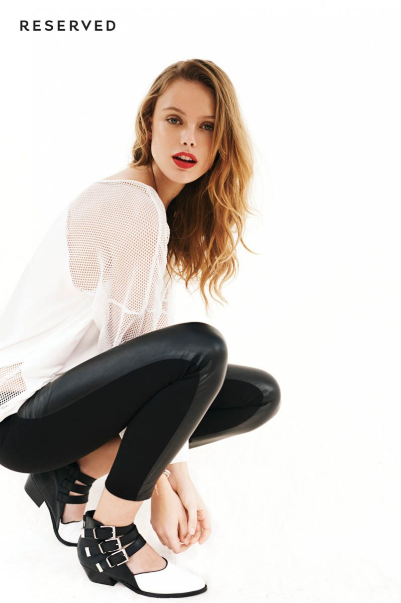 Frida Gustavsson is Sporty Chic for Reserved Spring 2014 Lookbook