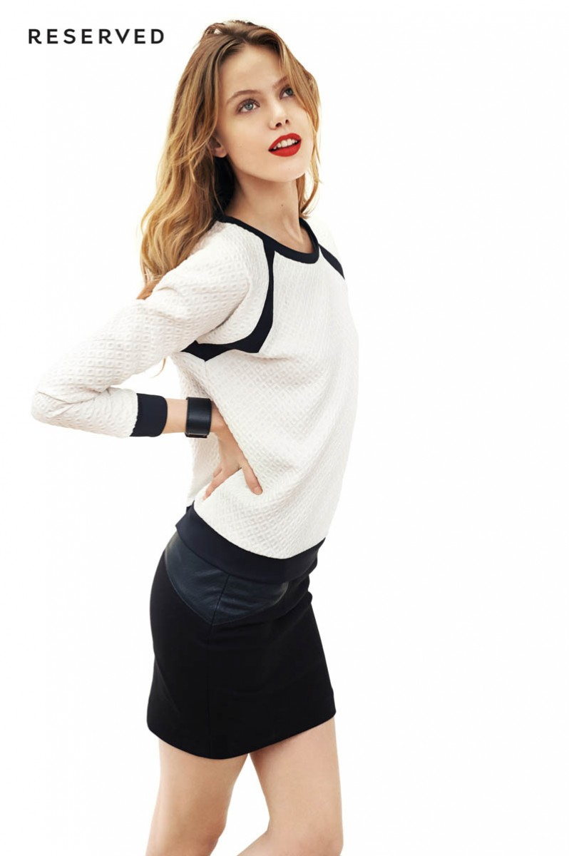 frida reserved lookbook6 798x1200 Frida Gustavsson is Sporty Chic for Reserved Spring 2014 Lookbook