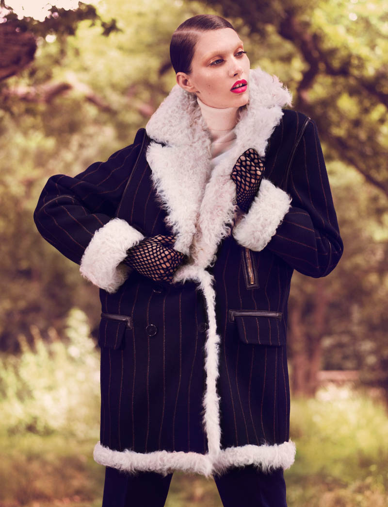 Irina Nikolaeva is 'Fur Real' for EXIT Magazine by Jens Langkjaer
