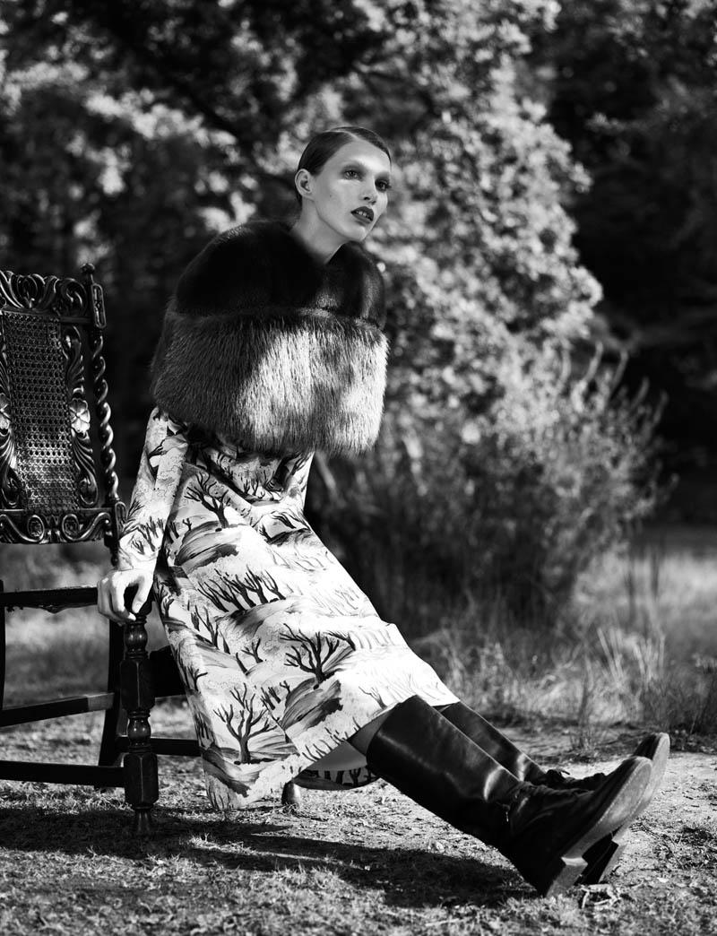 fur real48 Irina Nikolaeva is Fur Real for EXIT Magazine by Jens Langkjaer