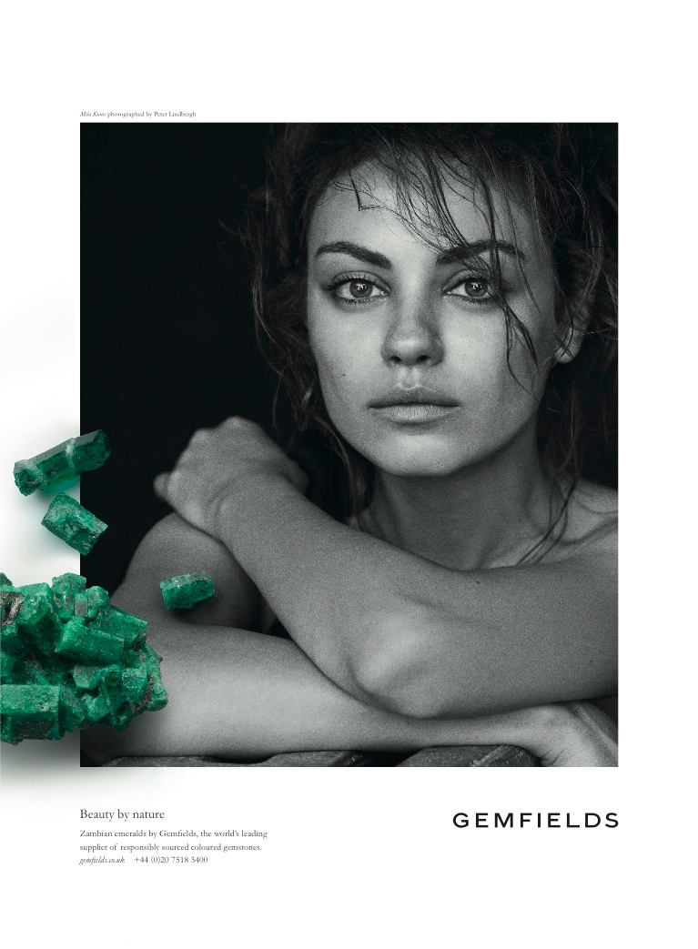 Mila Kunis Returns for Gemfields' 2014 Campaign