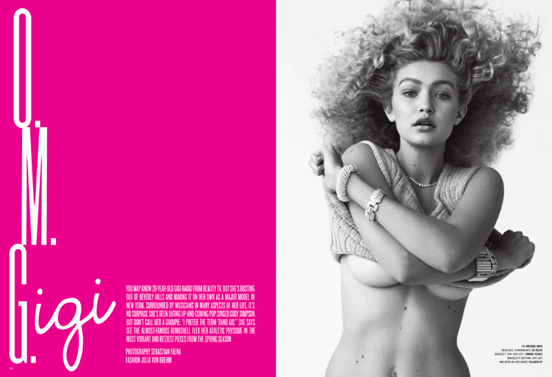 gigi hadid opener Gigi Hadid Makes V Magazine Debut in Glamorous Shoot