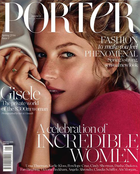 gisele porter cover Gisele Bundchen Covers Debut Issue of Porter Magazine, From Net a Porter