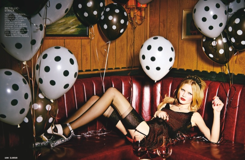 glamour ellen von unwerth14 Martha, Camilla + Henriett Live it Up for Glamour Germany by Ellen Von Unwerth