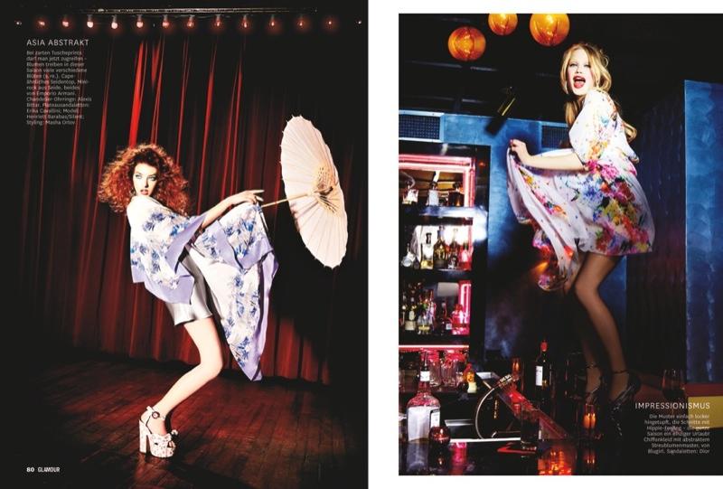 Martha, Camilla + Henriett Live it Up for Glamour Germany by Ellen Von Unwerth