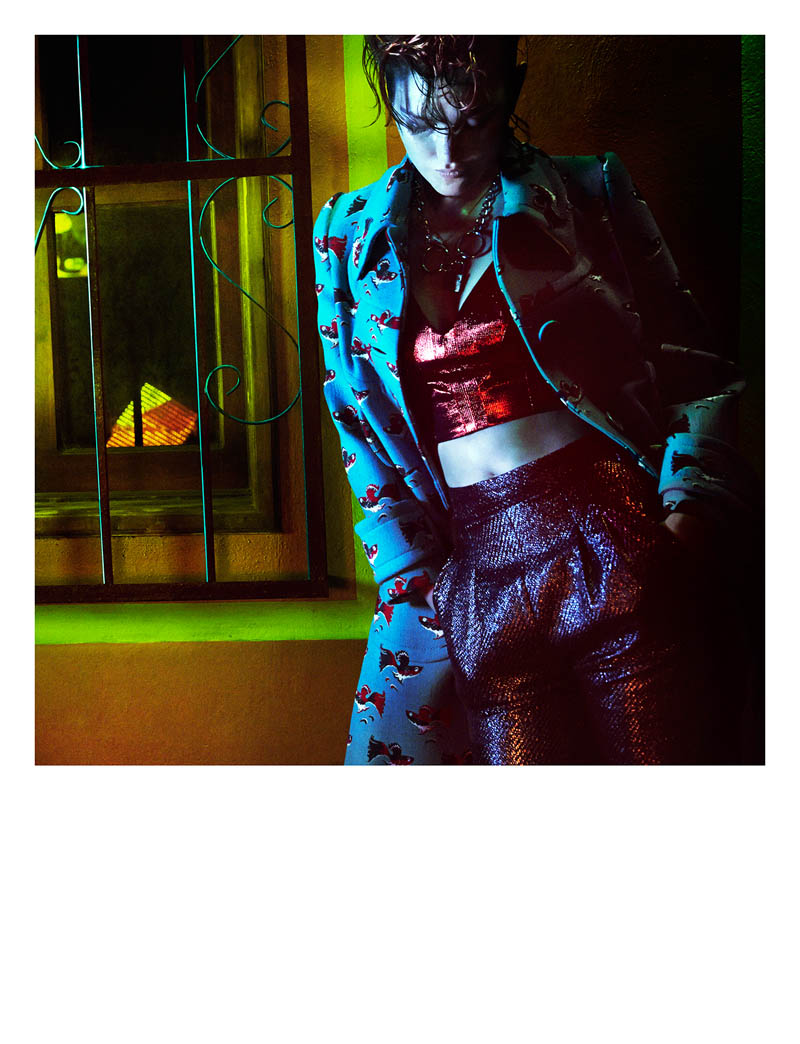 greg kadel shoot3 Night Call: Catherine McNeil Gets Dark for Greg Kadel in Numéro #151