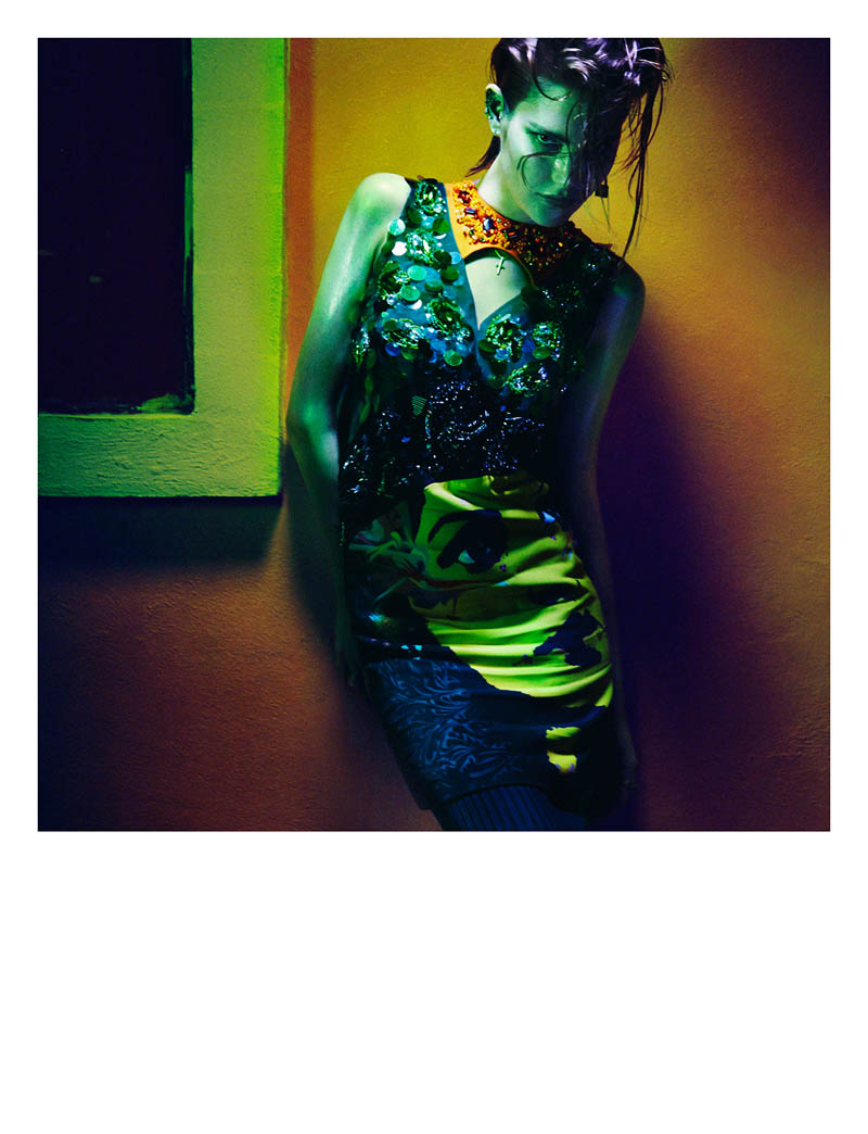 greg kadel shoot6 Night Call: Catherine McNeil Gets Dark for Greg Kadel in Numéro #151