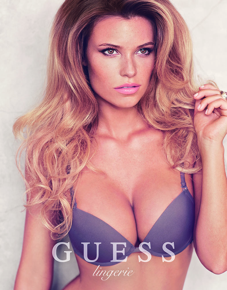 Samantha Hoopes Sizzles for Guess Lingerie Spring 2014 Campaign