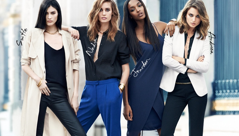 hm new icons models2 Nadja, Jourdan, Sui + Andreea Are H&Ms New Icons