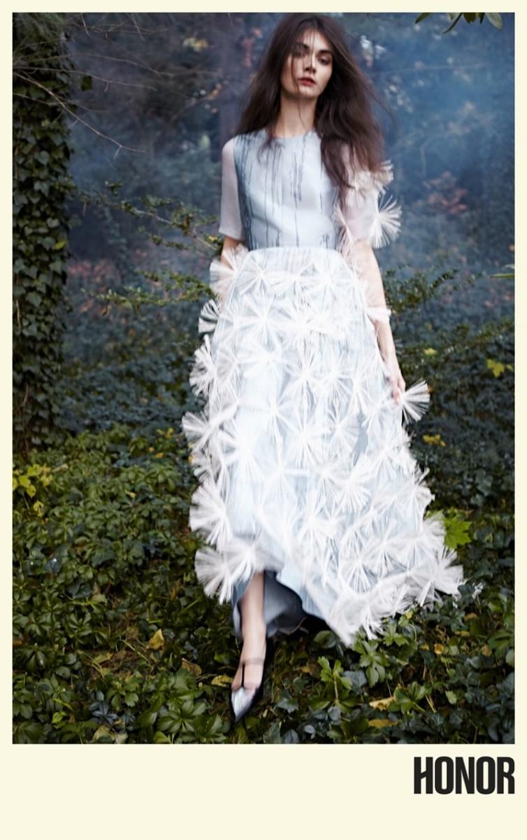 Antonina Vasylchenko Enchants for Honor's Spring 2014 Campaign by Yelena Yemchuk