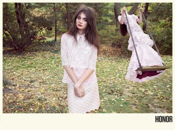 Antonina Vasylchenko Enchants for Honor's Spring 2014 Campaign by Yelena Yemchuk