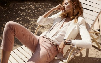 Magdalena Frackowiak Fronts Hunkydory Spring 2014 Ads by Marcus Ohlsson