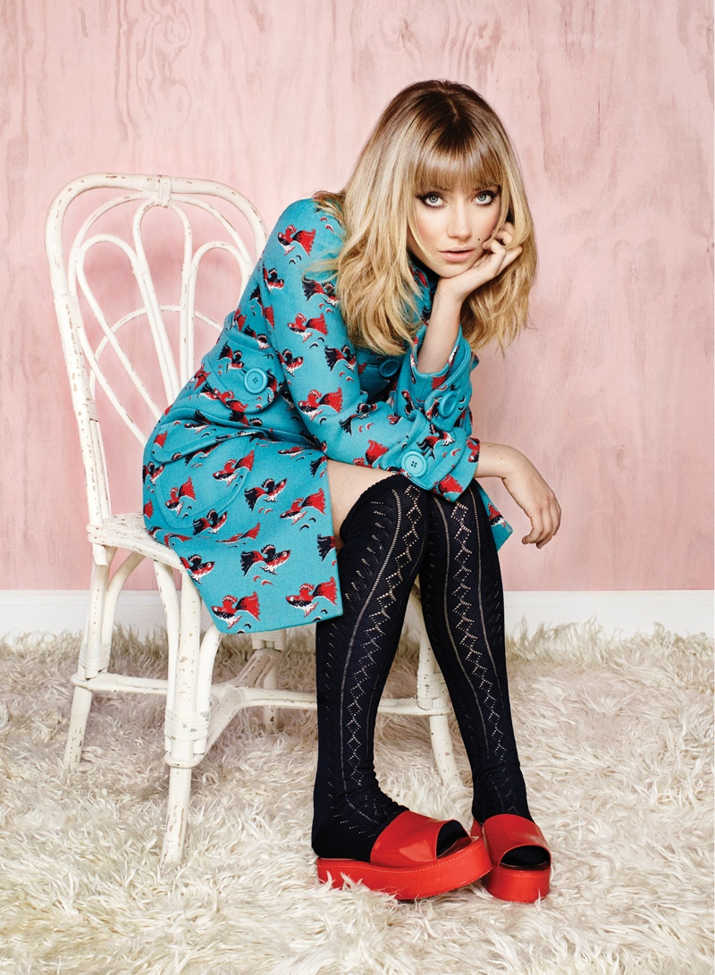 imogen poots 2014 1 Imogen Poots Covers Flare, Calls Courtney Love Her Fashion Icon