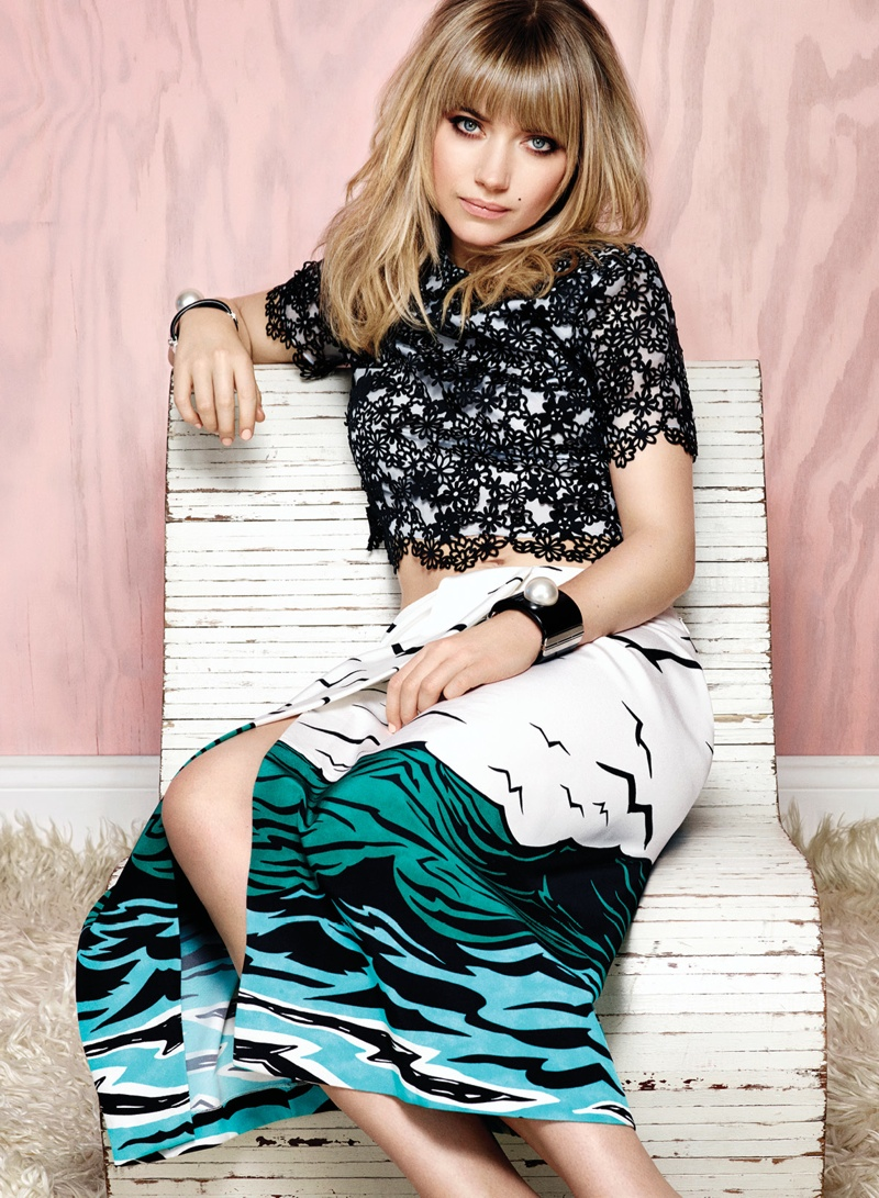 Imogen Poots Covers Flare, Calls Courtney Love Her Fashion Icon