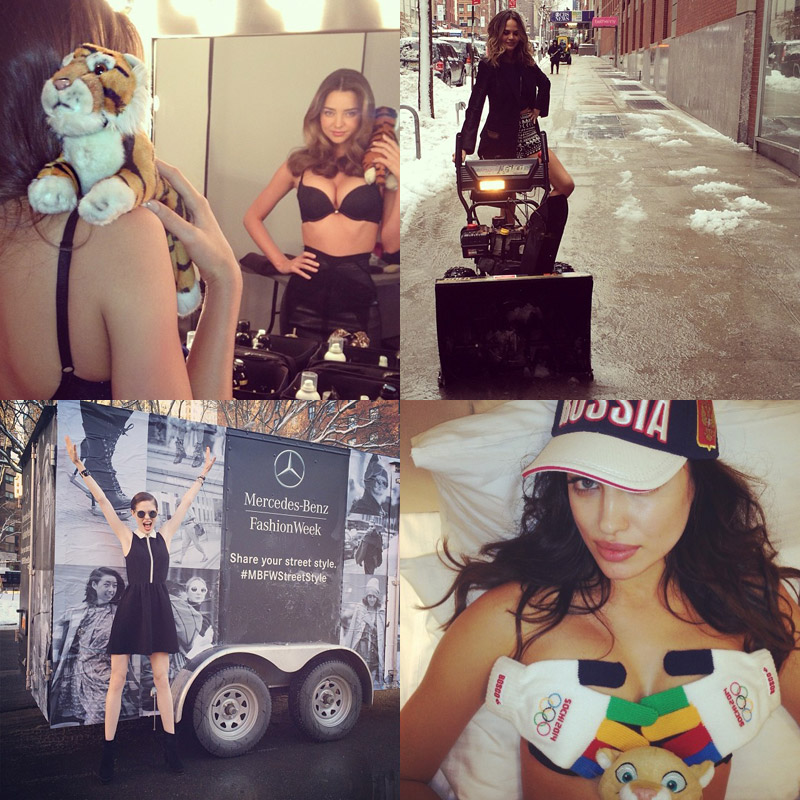 instagram models fashion Instagram Photos of the Week | Irina Shayk, Chrissy Teigen + More Models