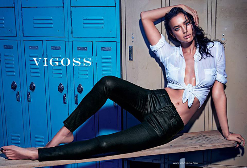 irina shayk vigoss spring 2014 campaign2 Irina Shayk is Super Hot in Vigoss Spring 2014 Campaign