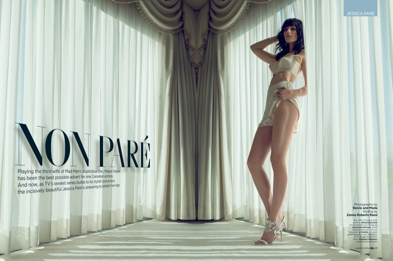 jessica pare1 Mad Men Star Jessica Pare Smolders in GQ UK Shoot by Stevie and Mada