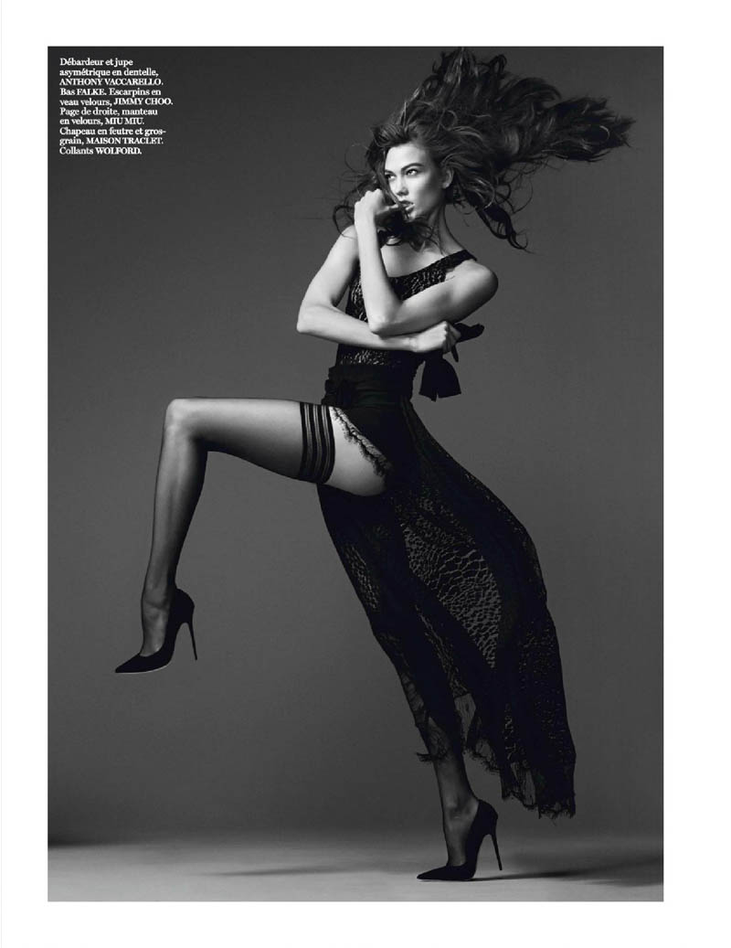 karlie kloss photo shoot3 Karlie Kloss Works It for David Sims in Vogue Paris Shoot