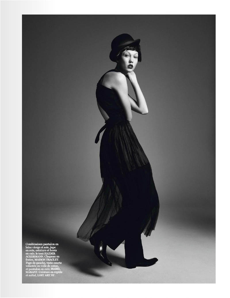 karlie kloss photo shoot5 Karlie Kloss Works It for David Sims in Vogue Paris Shoot