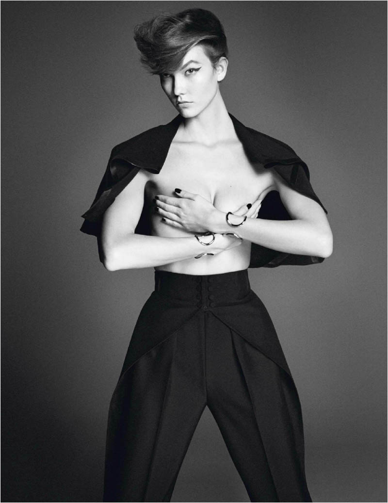 karlie kloss photo shoot6 Karlie Kloss Works It for David Sims in Vogue Paris Shoot