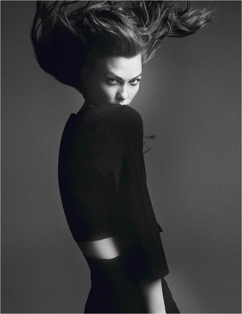 karlie kloss photo shoot9 Karlie Kloss Works It for David Sims in Vogue Paris Shoot
