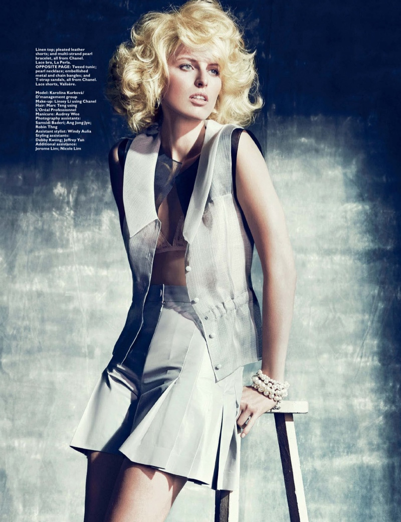 Karolina Kurkova Stars in Harper's Bazaar Singapore Shoot by Gan