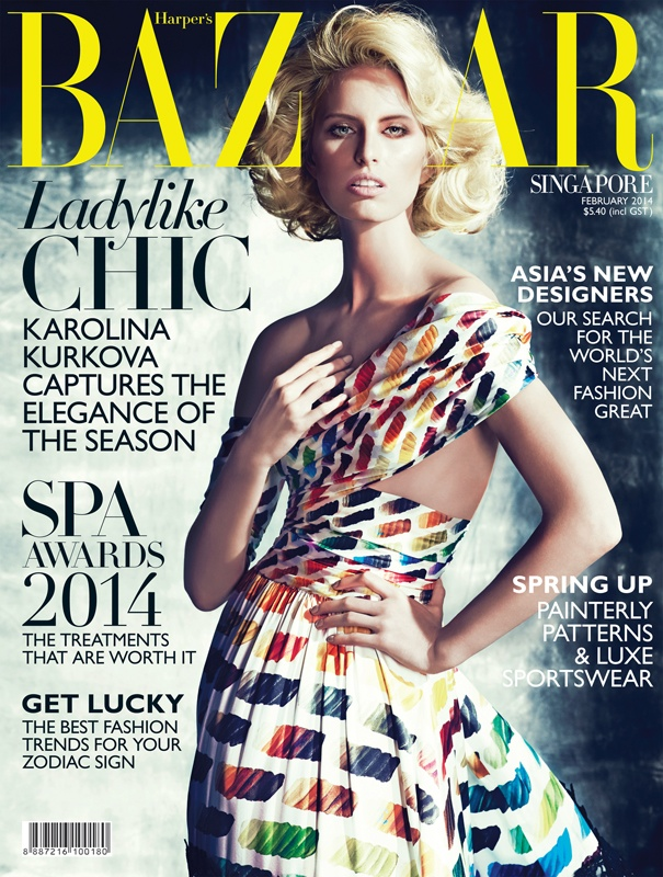 karolina bazaar shoot7 Karolina Kurkova Stars in Harpers Bazaar Singapore Shoot by Gan