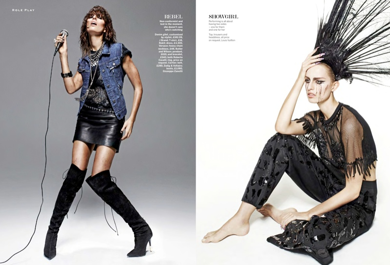 karolina kurkova stylist disguise4 Karolina Kurkova is a Mistress of Disguise for Stylist Magazine