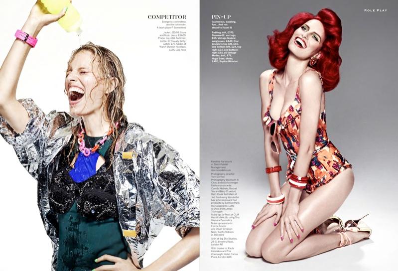 Karolina Kurkova is a Mistress of Disguise for Stylist Magazine