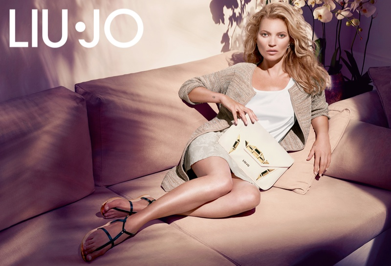kate moss liu jo spring 2014 campaign1 Kate Moss Gets Casual for Liu Jos Spring 2014 Campaign
